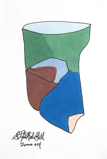 face, ellsworth kelly, drawing, marker,