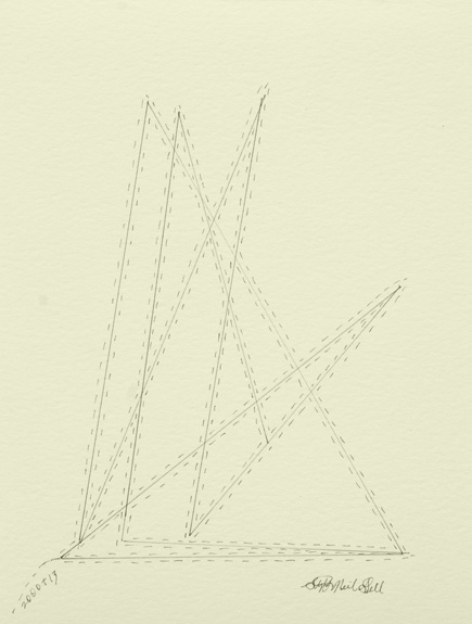 triangles, pencil, paper, drawing,