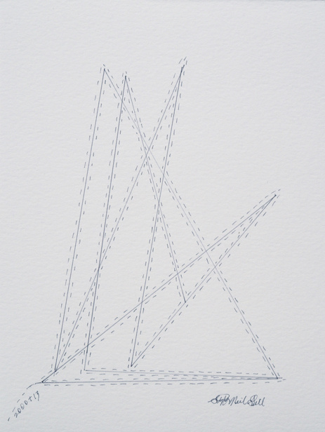 kinetic triangles, pencil, paper,