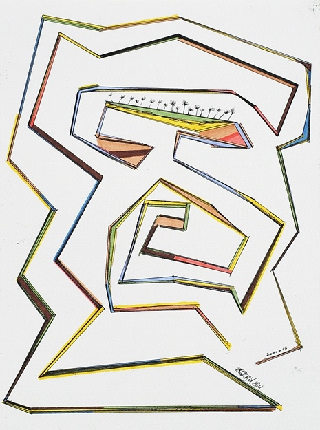 maze, sol lewitt, lines, abstract art,
