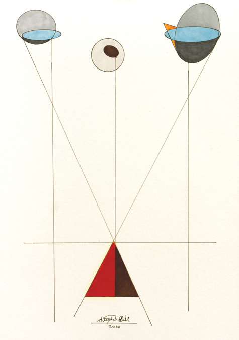geometric face sold, saatchi online,