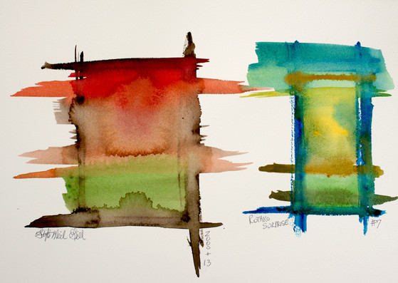 watercolor bleed, mark rothko