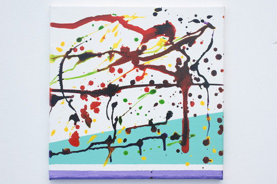 acid rain, abstract painting,