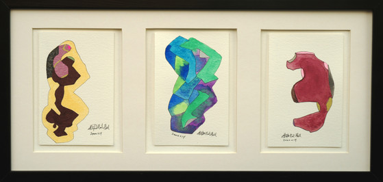three panel, framed, stephen neil gill,
